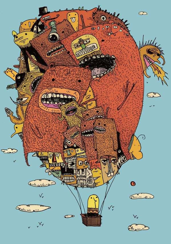 Creepy Comic Illustrations