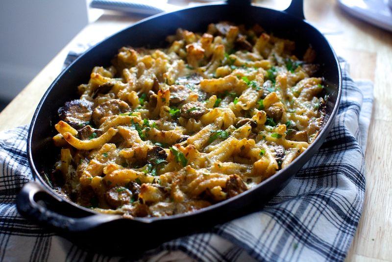 Baked Mushroom Marsalas