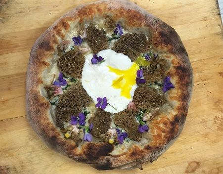 Floral Mushroom Pizzas