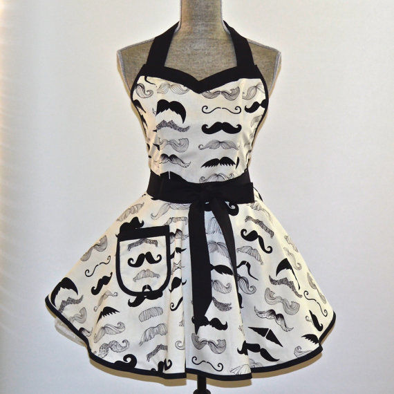 Feminized Facial Hair Aprons