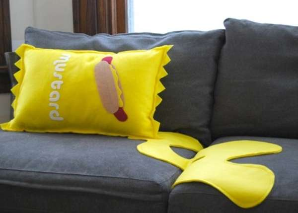 Spilled Condiment Cushions
