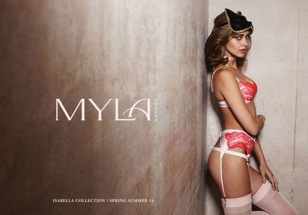 Sultrily Gartered Lingerie Ads