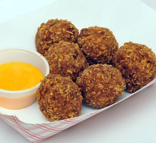 Deep-Fried Nacho Balls