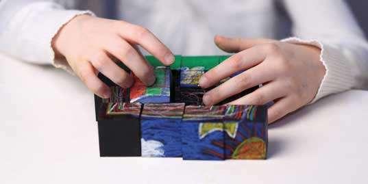 Toy Chalkboard Cubes