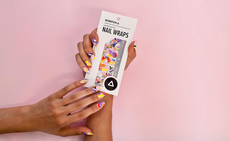 Popsicle-Inspired Nail Wraps
