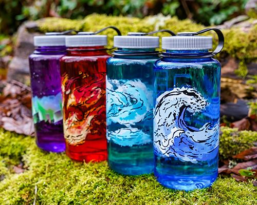 Element-Inspired Water Bottles