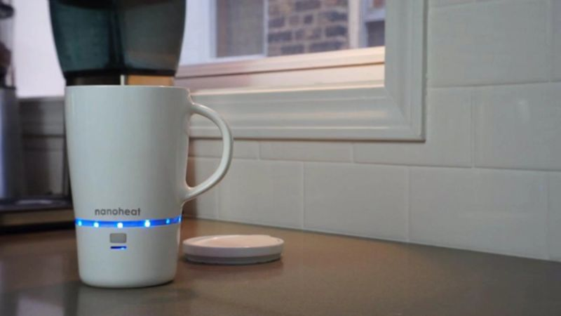 Nano-Heated Wireless Mugs