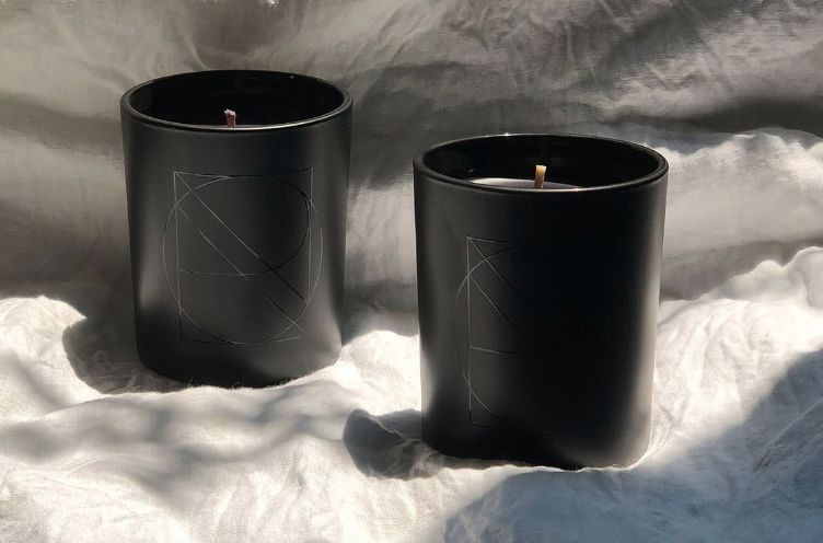 Chic All-Black Candles