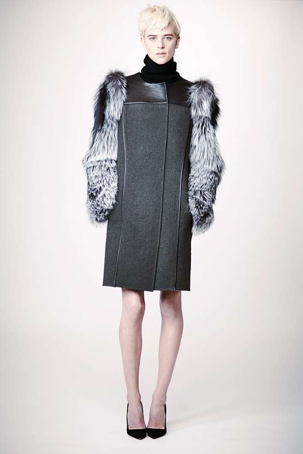Sleek Fur-Sleeved Ensembles