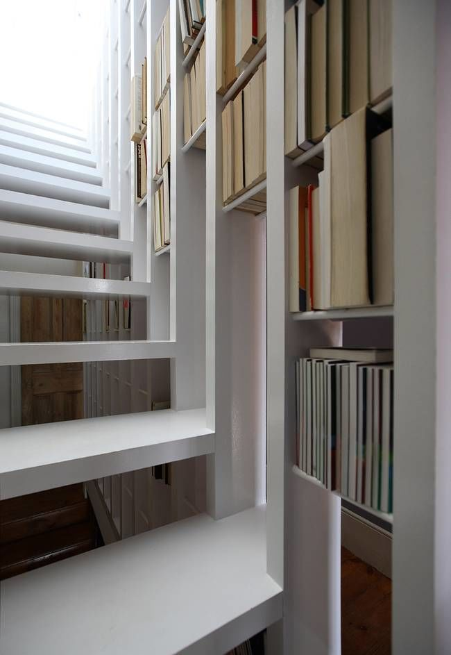 Book Filled Staircases Narrow Staircase