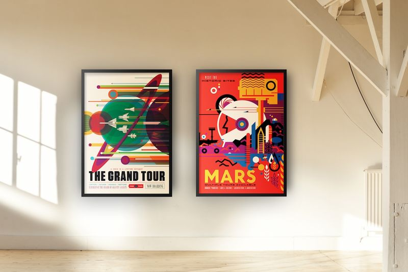 Space Travel Advertisement Posters