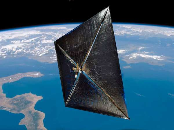 Sailing Solar Satellites