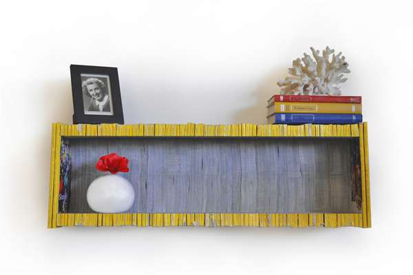 Recycled Magazine Shelves