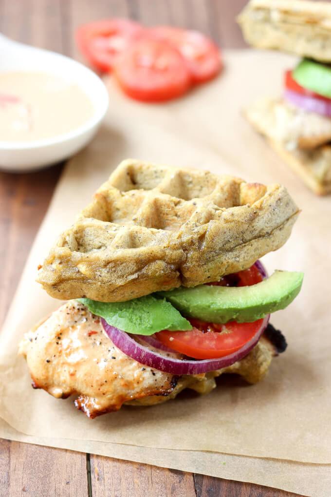 Paleo Waffle Sandwiches
