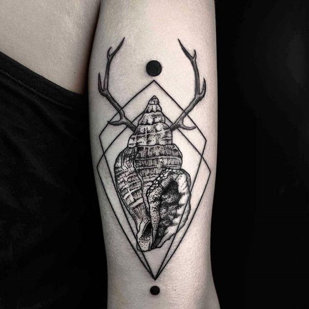Tatto Design: Geometric Nature Tattoos : Nature Tattoos