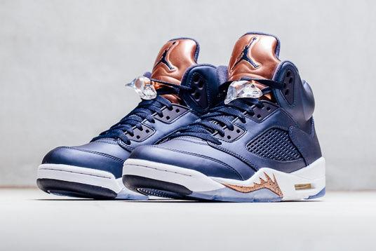 514c448bf8376 Bronze-Accented Basketball Shoes   navy Air Jordan