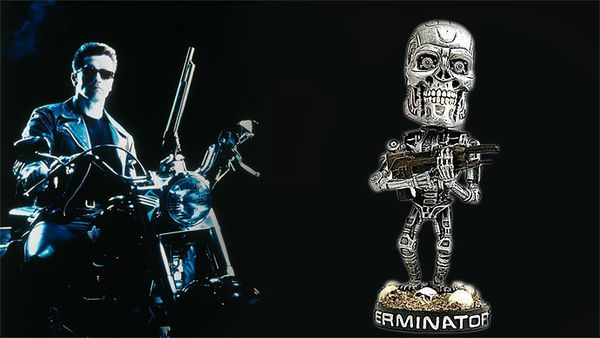 Retro Cyborg Figurines
