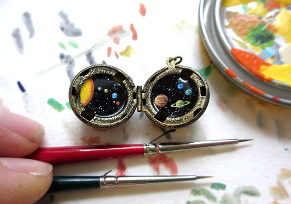 Worldly Locket Paintings