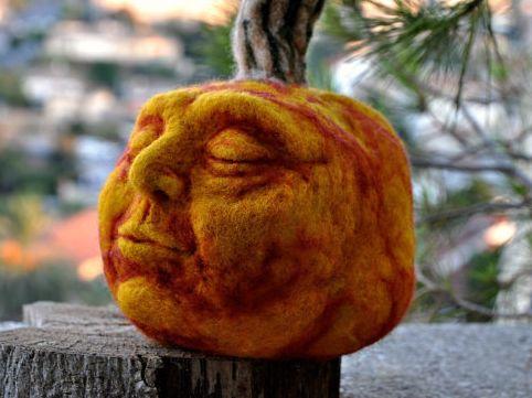 Needle Felted Pumpkins