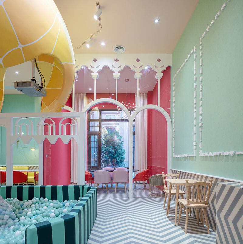 Whimsical Play-Integrated Eateries