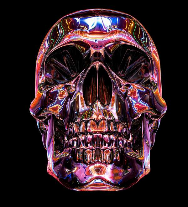 Chromatic Skull Art