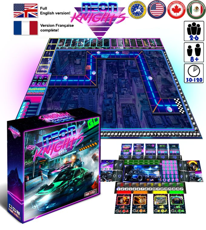 Futuristic Racing Board Games