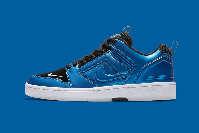 Glossy Electric Blue Sneakers
