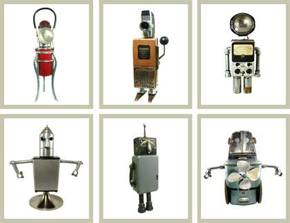 Recycled Antique Robots
