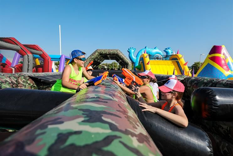 Inflatable Action Blaster Events