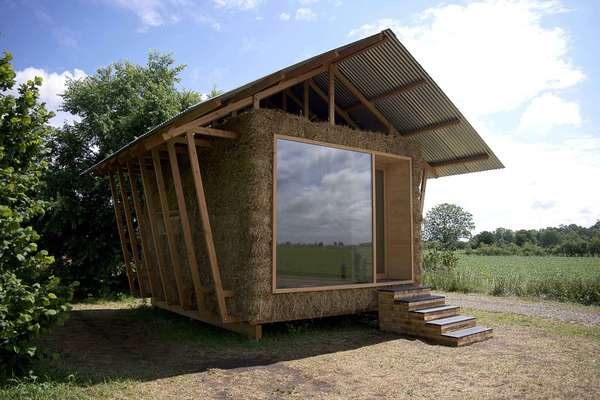 Straw Stuffed Eco Cabins Nest Design