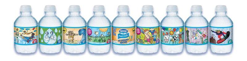 Childlike Water Bottle Labels