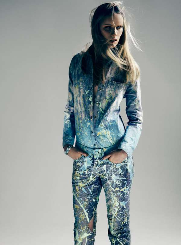 Decorated Denim Editorials