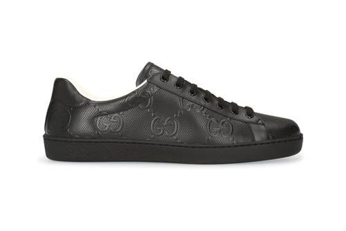 Luxurious Black Leather Sneakers