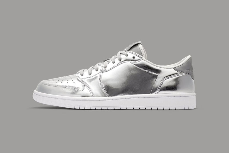 Minimally Branded Silver Sneakers