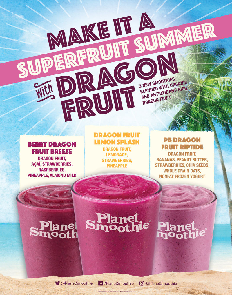 Colorful Dragon Fruit Smoothies