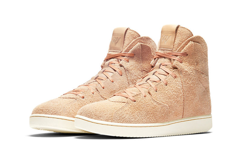 Rough Suede Basketball Sneakers
