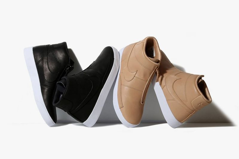 Simplistic Leather-Wrapped Sneakers