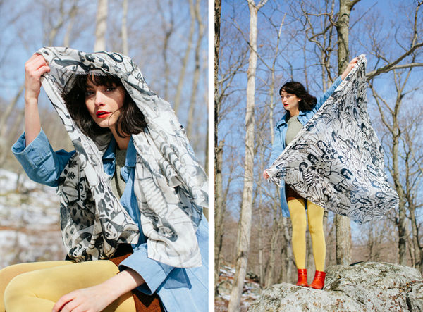 Eclectic Nature-Inspired Scarves