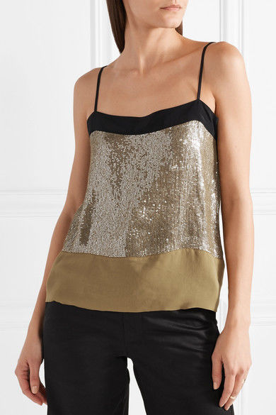 Sequined Chiffon Camisoles