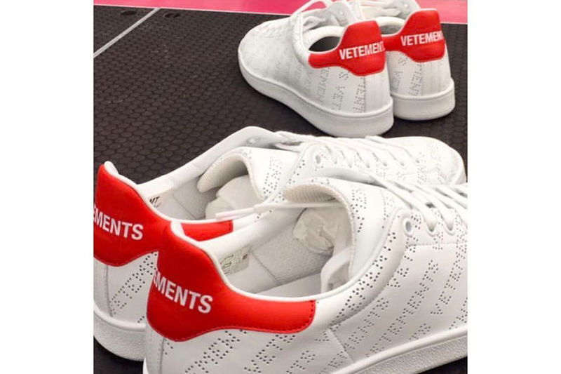 Perforated Logo Tennis Shoes
