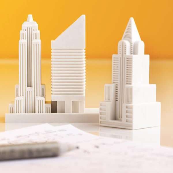 Iconic Cityscape-Inspired Erasers