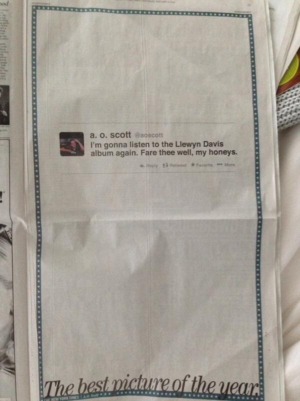 Printed Tweet Newspaper Ads