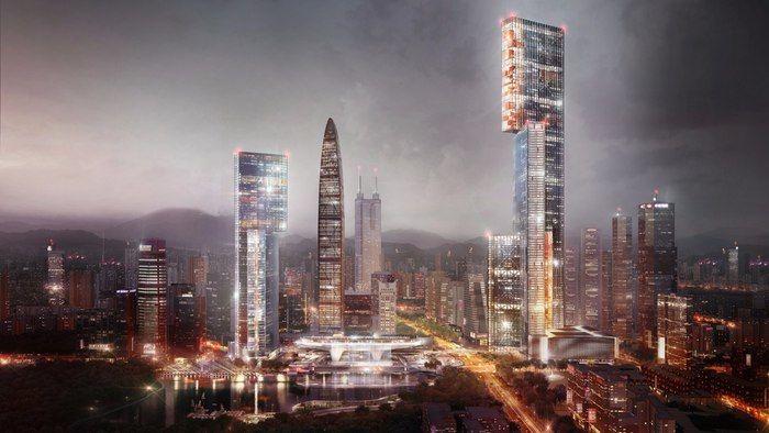 Triple-Block Skyscrapers