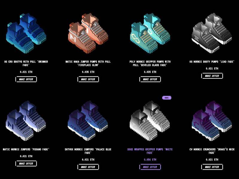 Customizable NFT Sneakers