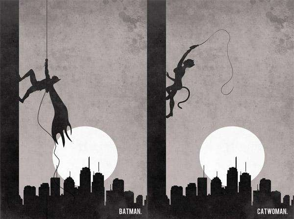 Wall Climbing Comic Silhouettes