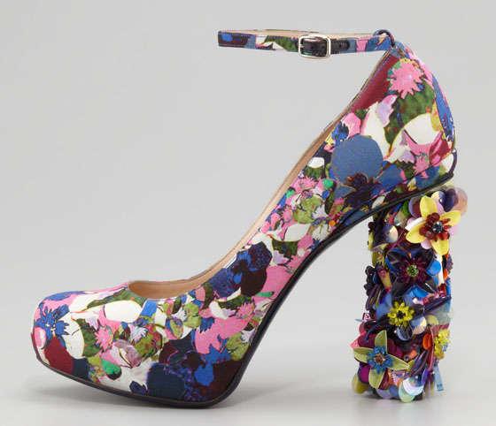 3206bec86d93 Garden-Inspired Wonderland Heels   Nicholas Kirkwood Floral-Print Pumps