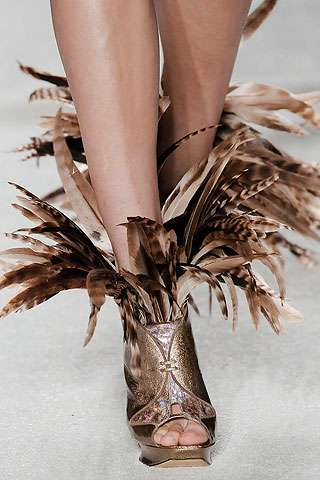 Feathered Footwear