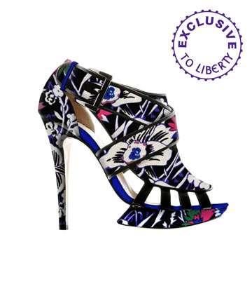 Flower Power Printed Heels
