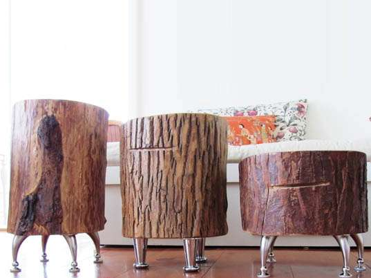 Upcycled Arboreal Furniture Nickadoo Tree Trunk Tables