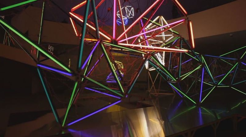 Luminescent Web Sculptures